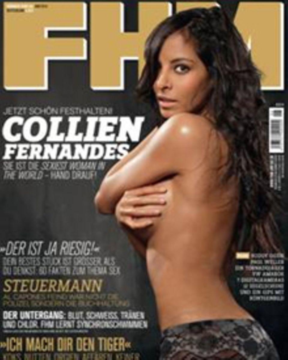 "Collien Fernandes auf dem Cover der ""FHM"""
