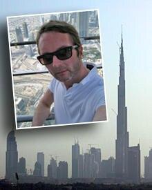 Aussichtsplattform: Marcus Luft hoch über der Metropole Dubai.