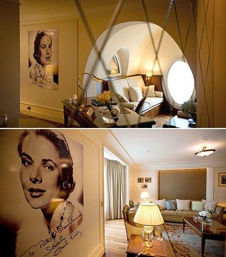 "Stilvolle Eleganz herrscht in der Grace-Kelly-Suite im ""InterContinental Carlton Cannes""."