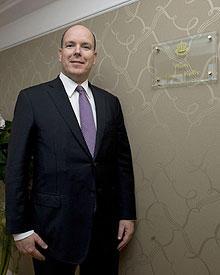 Fürst Albert II. von Monaco ließ es sich nicht nehmen, die Grace-Kelly-Suite einzuweihen.