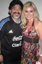 Katherine Jenkins und Diego Maradona