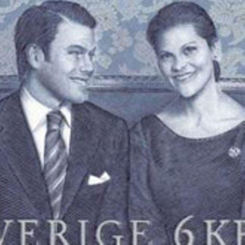 Victoria und Daniel - Briefmarke