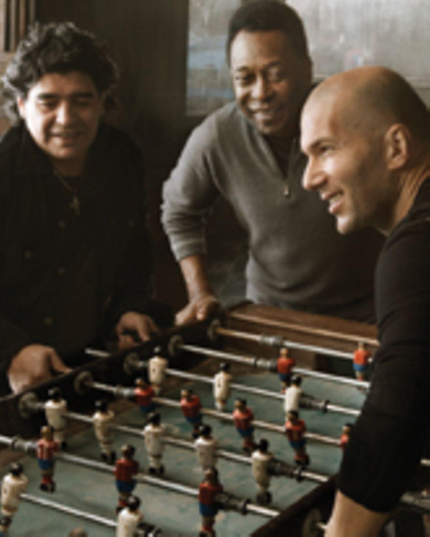 Pele, Zidane und Maradona