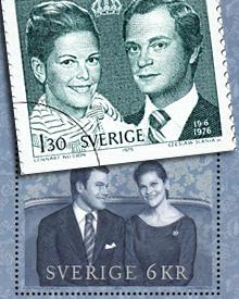 Noch eine Übereinstimmung: die Sonderbriefmarken. Victoria und Daniel sind sechs Kronen wert. Das reicht für einen Standardbrief