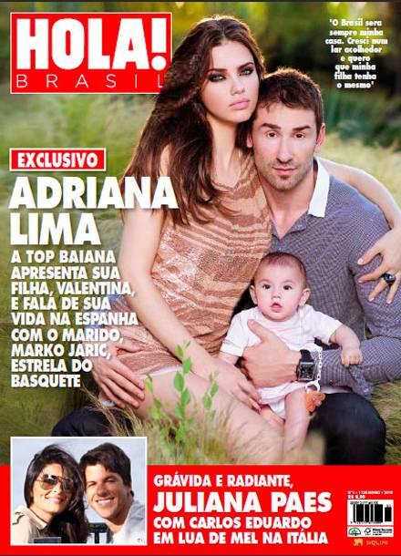 Adriana Lima udn Marco Jeric präsentieren sich mit ihrer Tochter Valentina.