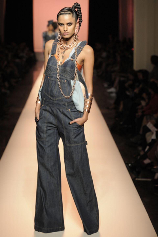 Die Kollaboration mit Levi's verband  Elemente aus dem Lingerie-Bereich mit Jeans.