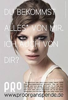 Model Luca Gajdus setzt sich ebenfalls für die Kampagne ein.