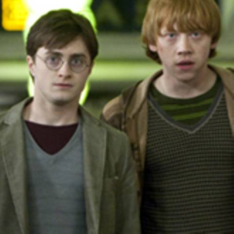"Daniel Radcliffe, Rupert Grint in ""Harry Potter 7 - 1"""