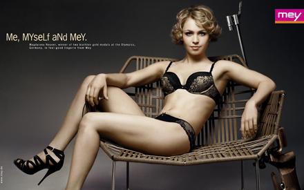 Magdalena Neuner macht auch abseits des Sports eine gute Figur.