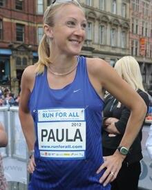 Trotz Schwangerschaft läuft Paula Radcliffe jeden Tag mehrere Kilometer.
