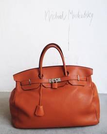 """Designer Michael Michalsky liebt seine zwei Birkin Bags: """"Ich trage sie immer im Wechsel""""."""
