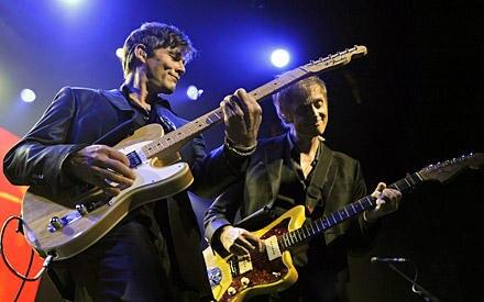 Morten Harket und Paul Waaktaar-Savoy bei einem Konzert in Los Angeles. Ende des Jahres wollen sich A-ha auflösen.