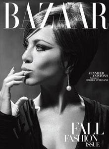 Jennifer Aniston auf dem Cover der September-Ausgabe von Harper's Bazaar.