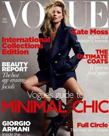 Kate Moss auf dem Cover der aktuellen Vogue.