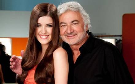 Marie Nasemann und Starfriseur Franck Provost haben sich bei den Dreharbeiten des TV-Spots sichtlich gut verstanden.