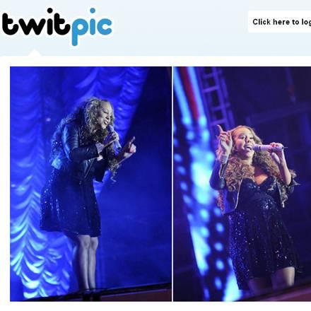 Ist das ein Babybauch? Mariah Carey bei einem Auftritt am 21. August in Brasilien.