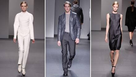 Die Herbst-Kollektion von Calvin Klein Collection, der Hauptlinie, präsentiert klare Schnitte und außergewöhnlich subtile Detail