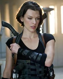 """Bereits zum vierten Mal spielt Milla Jovovich die Actionheldin Alice in """"Resident Evil""""."""
