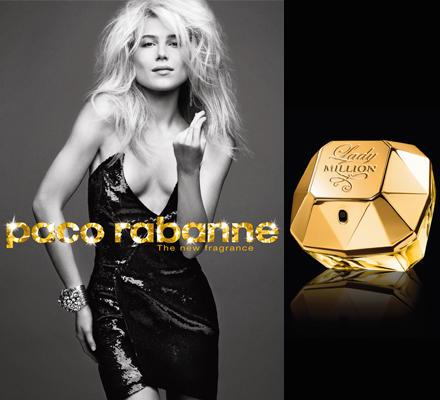 """Paco Rabannes Design-Credo von 1967 steckt auch in """"Lady Million"""", dem Pendant zum Herrenduft """"1 Million"""". Ein frecher, humorvol"""