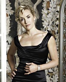 """Wie gemalt: Kate Winslet in Rom bei der Präsentation der Damenuhrenkollektion """"Dolce Augemented Reality Vita"""" von Longines."""