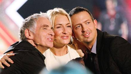 """Harmonisches Team: Musikproduzent und Sarah-Connor-Entdecker George Glueck, 60 (l.), ist der Dritte im Bunde bei """"X Factor"""" (die"""