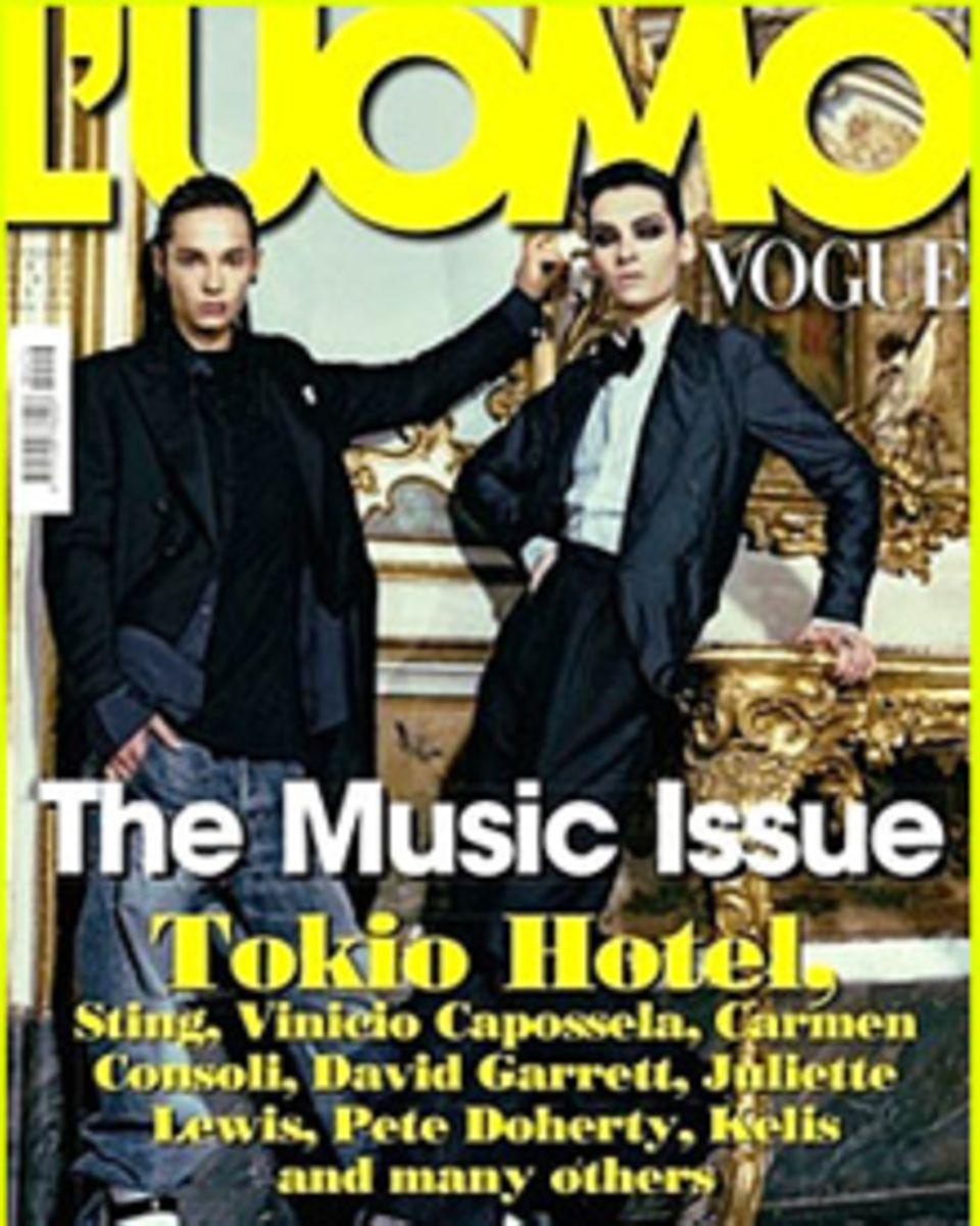 Tom und Bill Kaulitz zieren das aktuelle Cover der L'Uomo Vogue.
