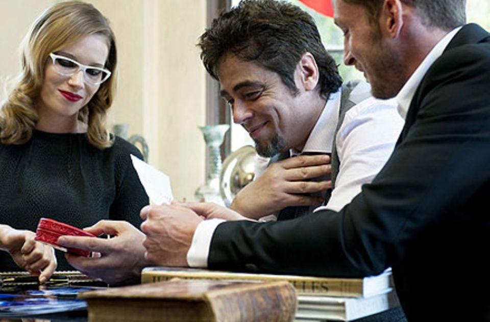Spaß bei der Arbeit: Benicio del Toro genoss das Fotoshooting.