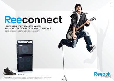 Tom Kaulitz als werbestar in der Kampagne der Sportmarke Reebok.