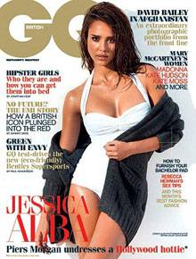 """Jessica Alba präsentiert sich gewohnt atemberaubend auf dem Titelblatt der britischen """"GQ""""."""