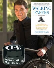 """Francesco Clark, 32, Gründer von """"Clark ?s Botanicals, erzählt in """"Walking Papers"""" von der Kraft, die ihm seine Ausdauer und sei"""