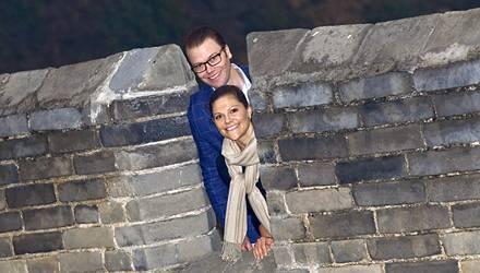 """Begeisterungsfähig: """"Einfach großartig"""" fanden Victoria, 33, und Daniel, 37, die Chinesische Mauer beim Besuch in der vergangene"""