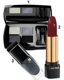 """1. """"Ombre Absolue Palette Quad"""", 2. """"L'Absolu Rouge"""", 3. """"Le Vernis"""" aus der """"Holiday 2010 Color Collection"""" von L'Wren Scott fü"""