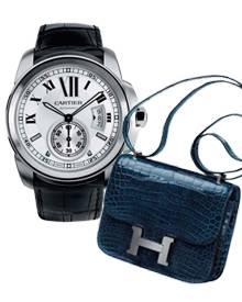 Der Umsatz von Cartier steigt. Auch weil sie mit der Uhr Calibre (4940 Euro) nun den Männermarkt erobert. Bei den Taschen ist vo