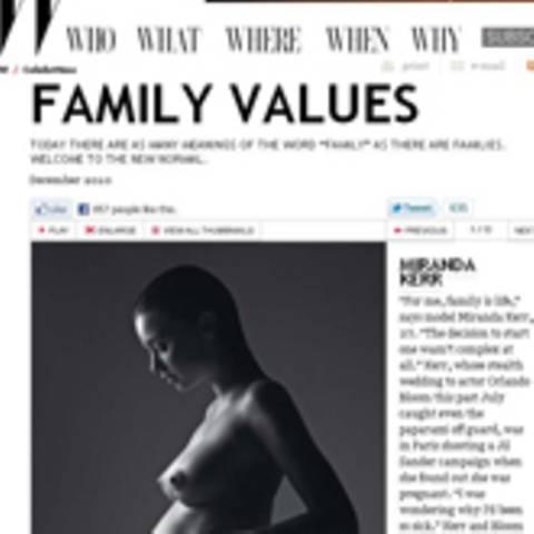 Miranda Kerr: Kugelrundes Fotoshooting