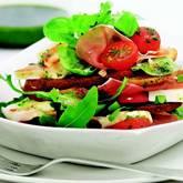 Rucola-Basilikum-Salat