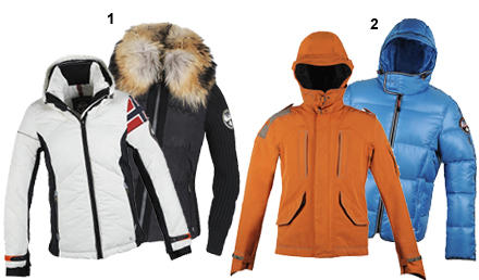 1. Für Eisladys: Details wie die Betonung der Taille oder ein abnehmbarer Fellkragen dominieren (in Weiß ca. 500 Euro, in Schwar