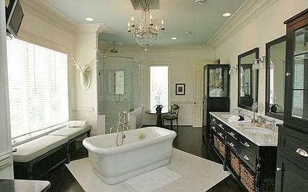 Hier hat es sich die Sängerin gutgehen lassen - eines der vielen Badezimmer des großen Anwesens.