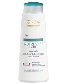 """Für einen straffen Körper à la Hunziker: """"Nutri Soft 24h Body-Milk Anti-Feuchtigkeitsverlust"""" von L'Oréal Paris (400 ml, ca. 5 E"""