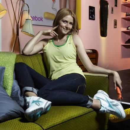 Topmodel Eva Padberg als Markenbotschafterin für den Sportartikelhersteller Reebok.