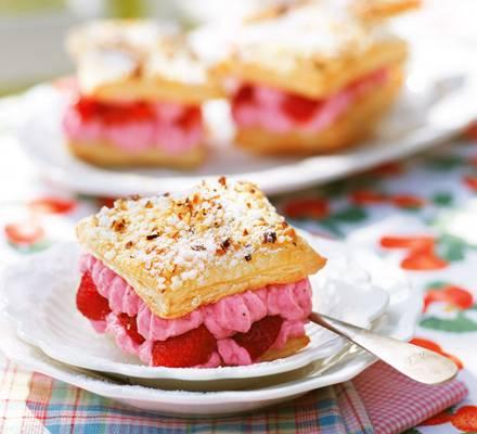 Quarkkissen mit Erdbeeren