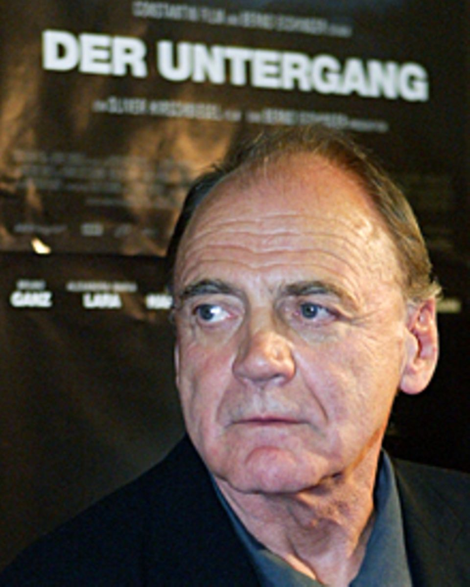 """In """"Der Untergang"""" brilliert Bruno Ganz 2004 als Adolf Hitler."""