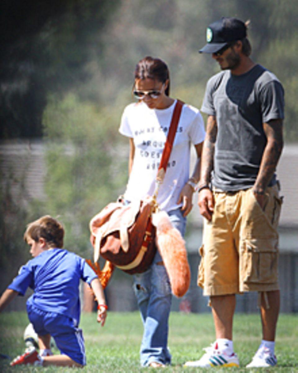 In den vergangenen Wochen genossen David und Victoria Beckham (hier mit Cruz) das gute Wetter in Kalifornien. Die nächsten Monat