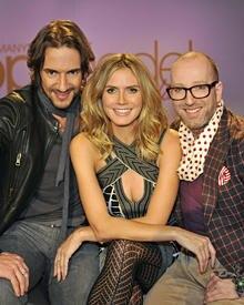 """Creative Director Thomas Hayo (l.) und Designer Thomas Rath bilden zusammen mit Heidi Klum die Jury der sechsten Staffel von """"Ge"""
