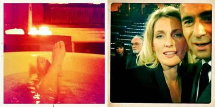 Maria Furtwängler zeigt uns ihre Füße in der Badewanne und posiert mit Kai Pflaume vor der Kamera.