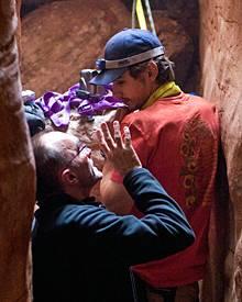 """Für """"127 Hours"""", die Survival-Story um Kletterer Aron Ralston, begaben sich Regisseur Danny Boyle und James Franco in den Blue-J"""