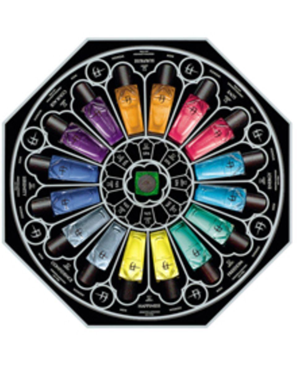 Das Konzept der Parfümeure Michael Förster und Walter Johnson setzt auf Emotionen und bunte Farben. Die unterschiedlichen Flakon