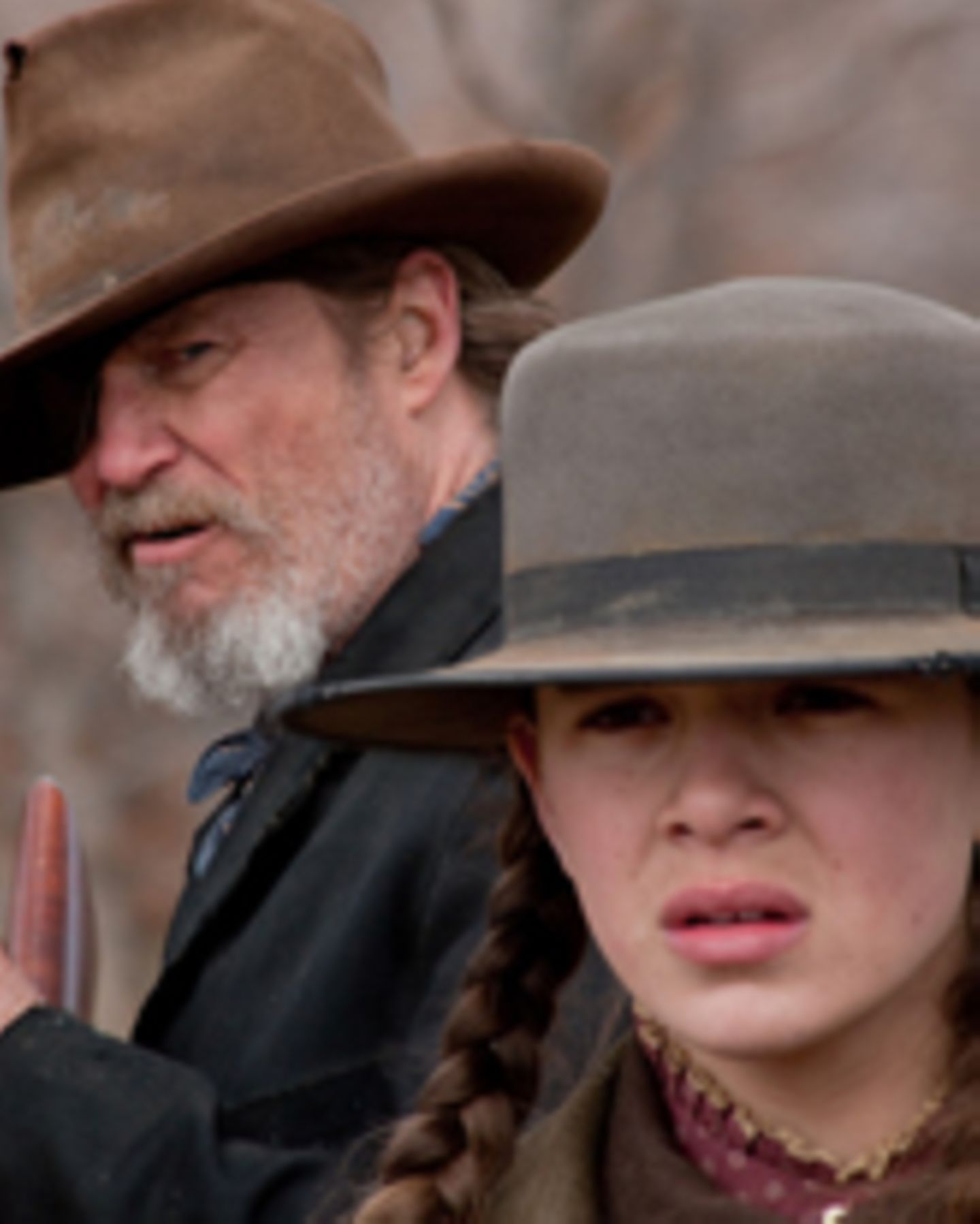"Jeff Bridges und Hailee Steinfeld in ""True Grit"""
