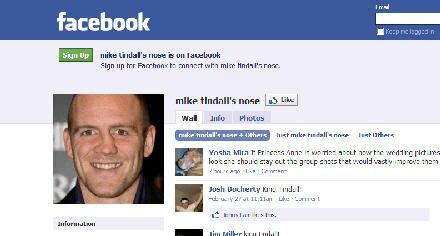 Auf Facebook vertreten: Mike Tindalls Nase.