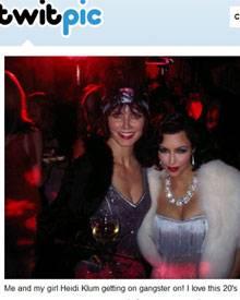 Gäste auf Evas Party: Heidi Klum und Kim Kardashian.