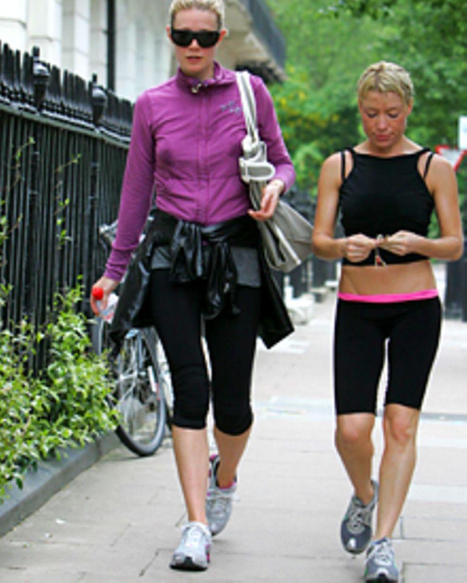 Ohne Schweiß kein Preis: Gwyneth Paltrow, 38, mit ihrer beinharten Trainerin Tracy Anderson, 35 (r.)